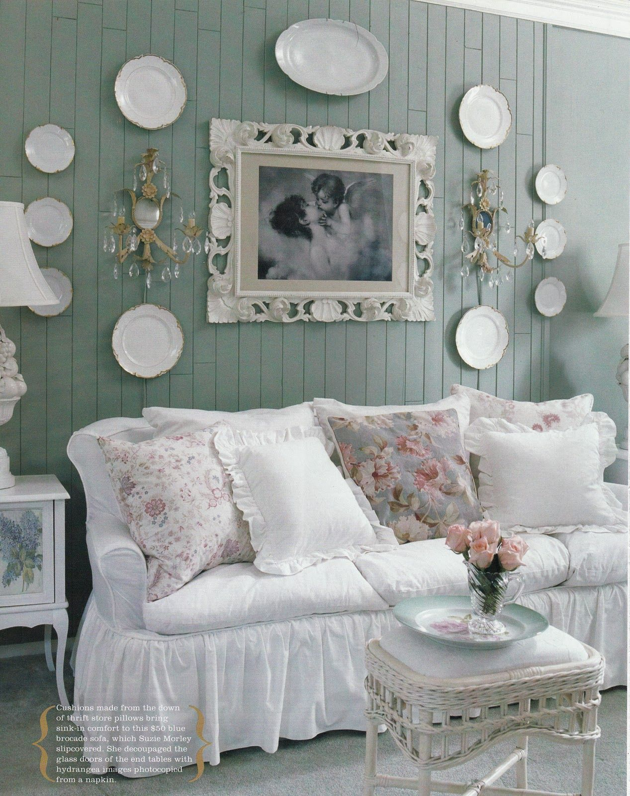 Canapé Shabby Chic a blog about interior design, books, art, gardens, animals