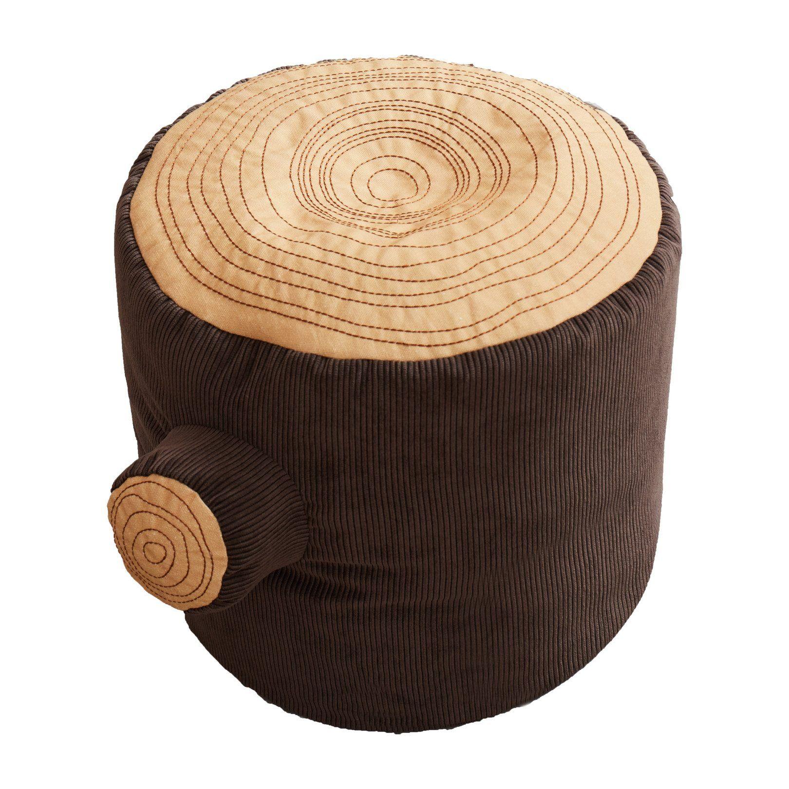 Asweets tree stump pouf kids seating toy trees tree stump