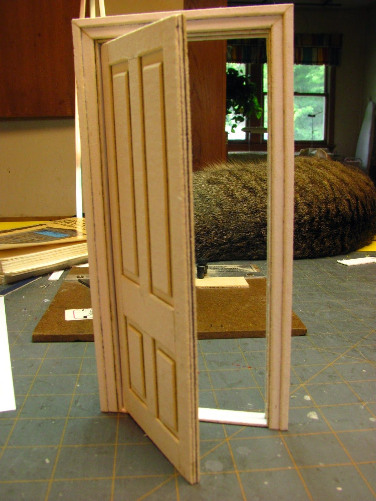 How to make a 1 inch scale dollhouse interior door and - How to build a door jamb for interior doors ...