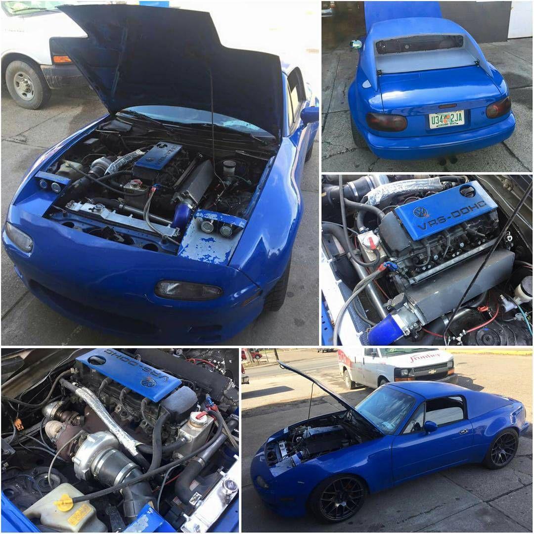 "Rx7 Engine Used: Via @richeyjackson #TopMiata #miataswap ⏩ ""VW VR6 Swap"
