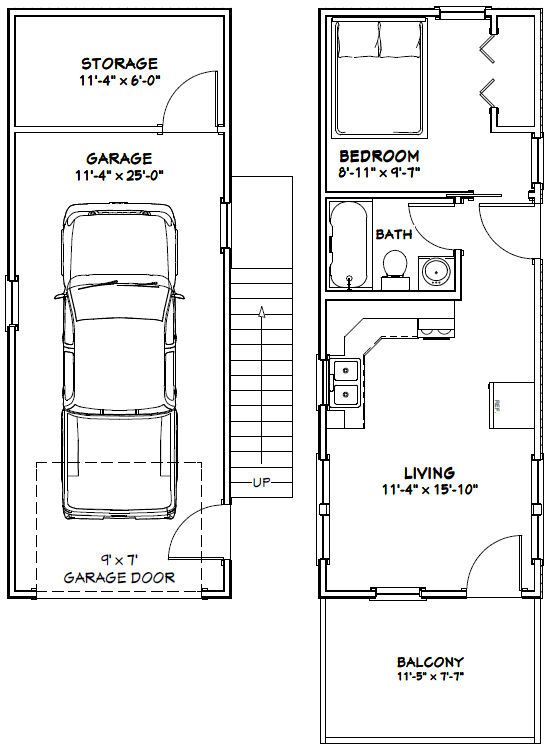 12x32 Tiny House 12X32H6 461 sq ft Excellent Floor Plans