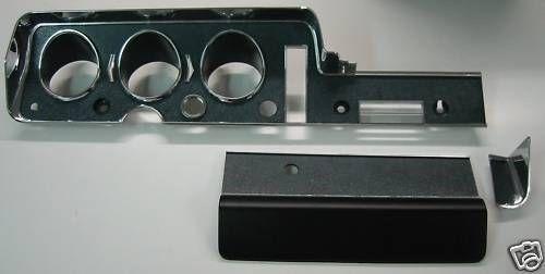 1968 Gto Lemans Tempest 3 Piece Dash Bezel Glove Box Housing Kit New 1968 Pontiac Gto Pontiac Gto Gto