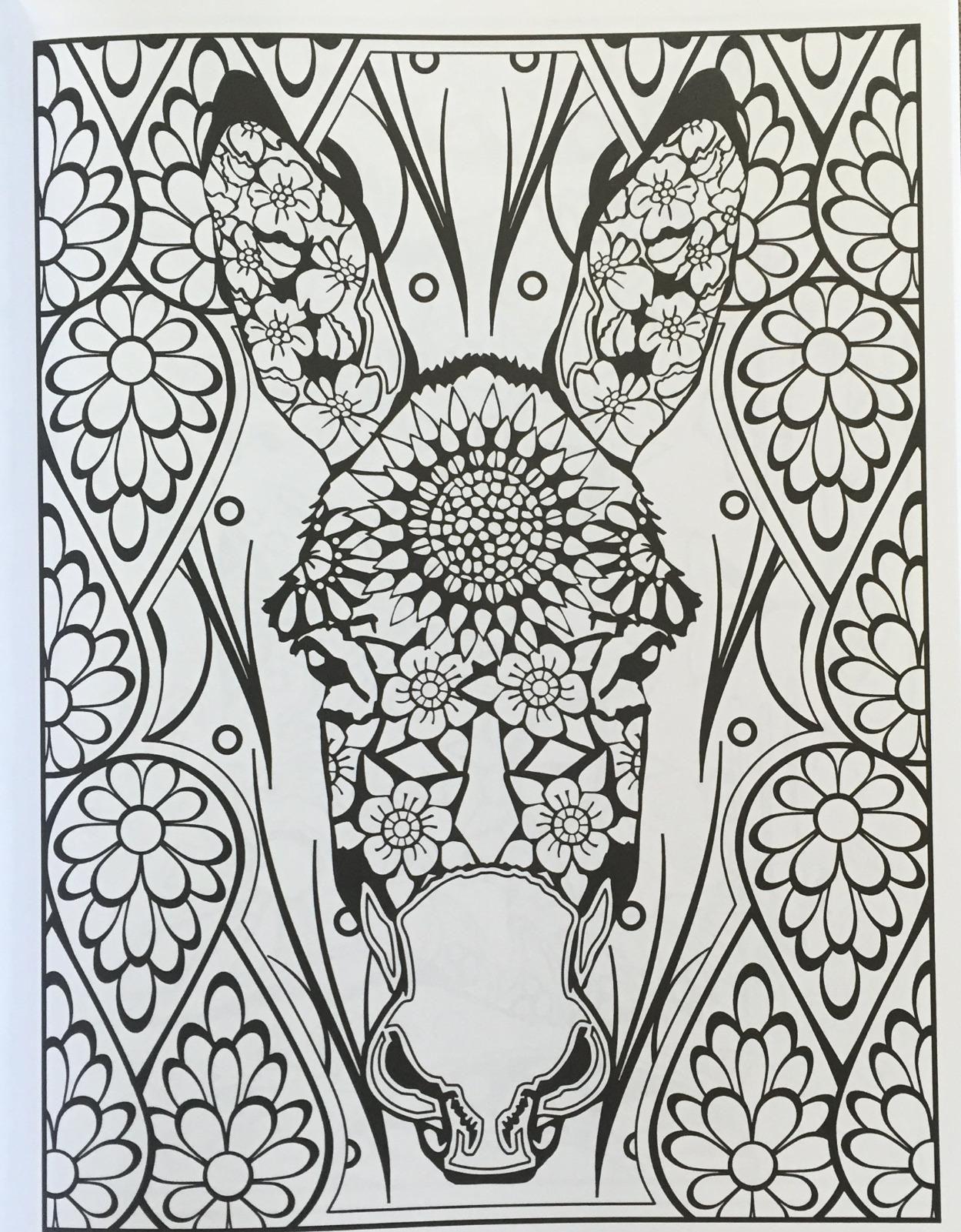 Amazon Creative Haven Animal Calaveras Coloring Book Adult 9780486805719