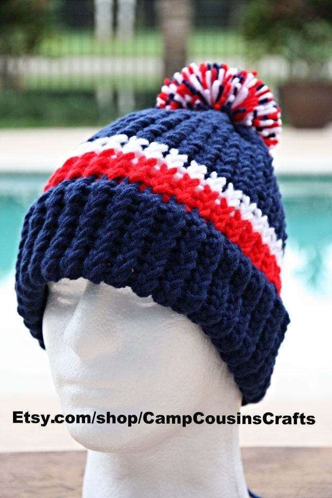NEW ENGLAND PATRIOTS knit hat blue beaniered knit hatloom knit hatFourth of  JulyUnisex mens watch caplongshoreman 5571488f0