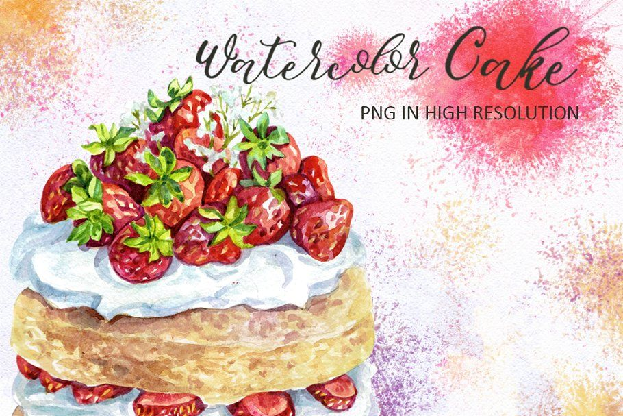 Watercolor Cake in 2020 Watercolor cake, Food
