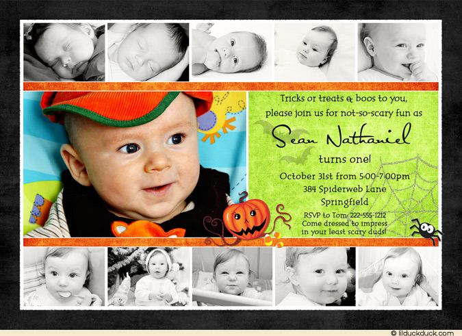 1st Birthday Halloween Invitation