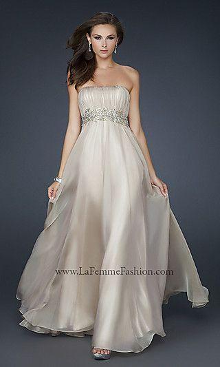 MOA idea ;) La Femme Evening Gown for Prom, Long White Dress ...