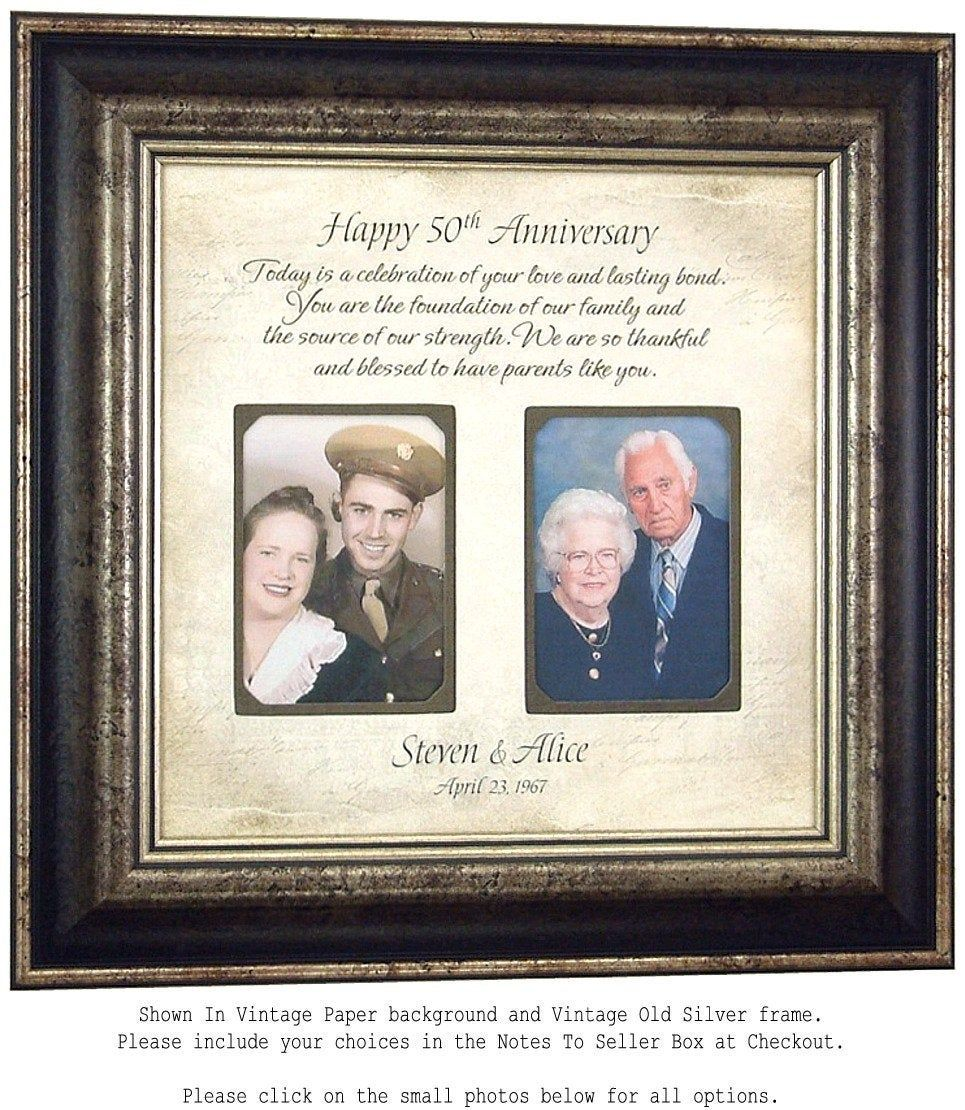 50th Anniversary Gifts for Parents, Golden Anniversary Gifts, Parents 50th Anniversary, 50th Wedding Anniversary,