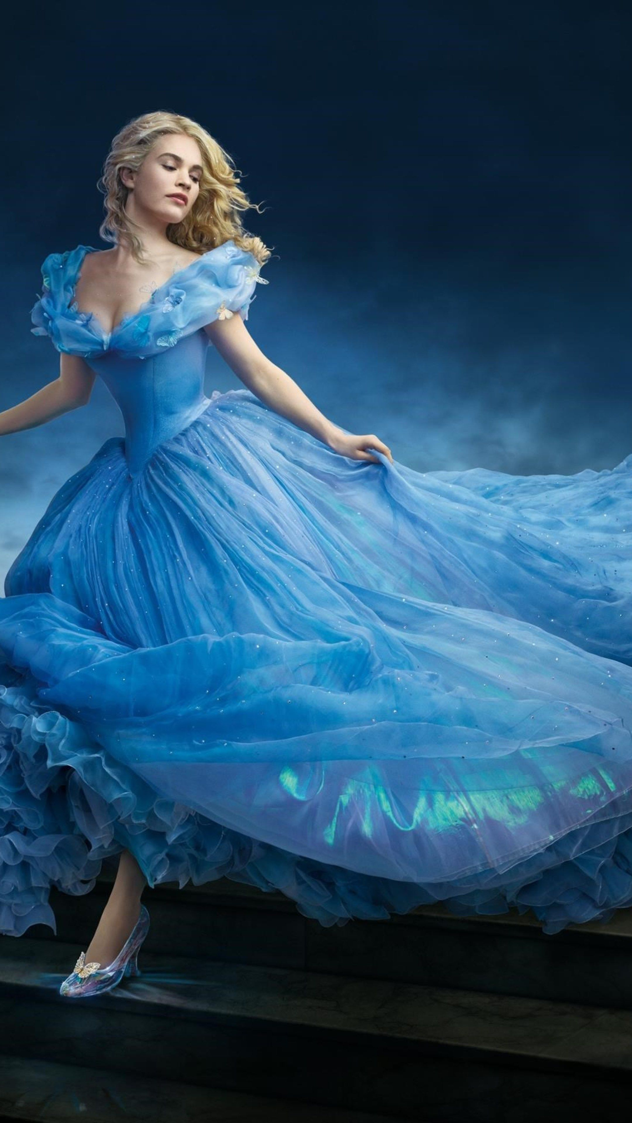 Lily James In Cinderella In 2160x3840 Resolution Disney Princess Dresses Disney Dresses Cinderella Dresses