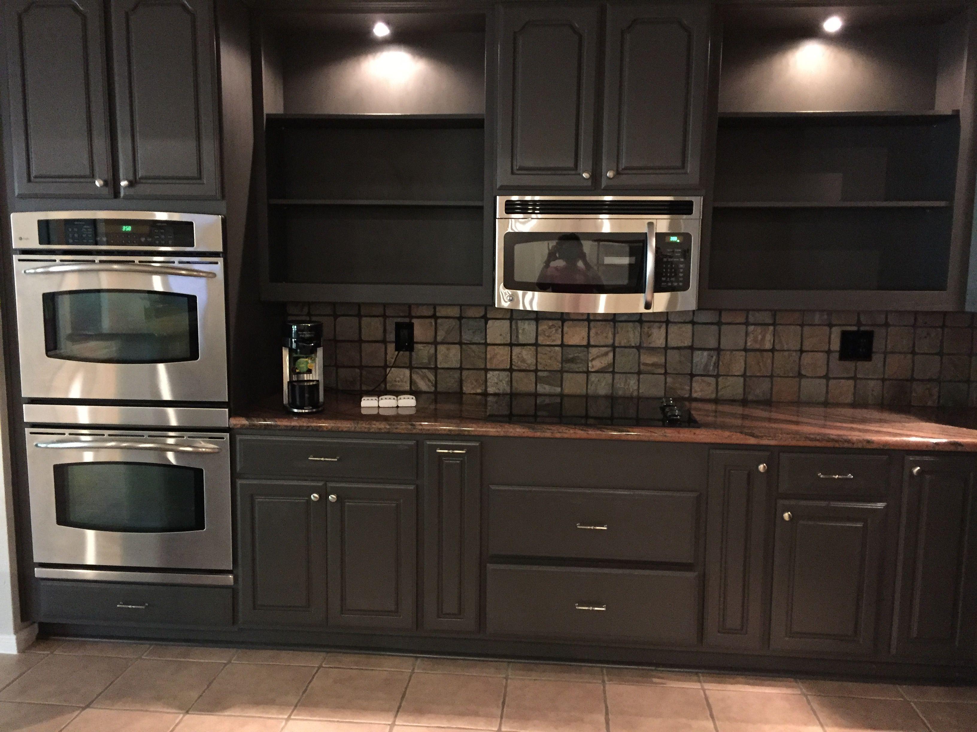 Painted cabinets SW urban bronze | Bronze kitchen ...