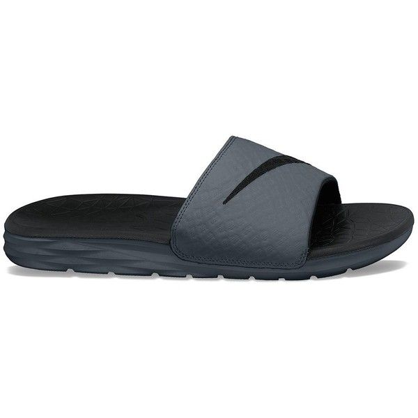 timeless design fac5a 26053 Nike Benassi Solarsoft Slide 2 Men s Sandals ( 30) ❤ liked on Polyvore  featuring men s fashion, men s shoes, men s sandals, grey other, mens slip  on ...