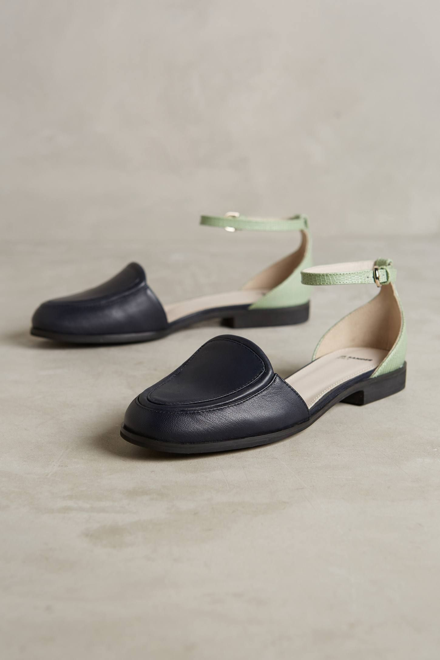 Jil Sander Navy Striped Patterned Flats discount outlet store q9CHSirHH