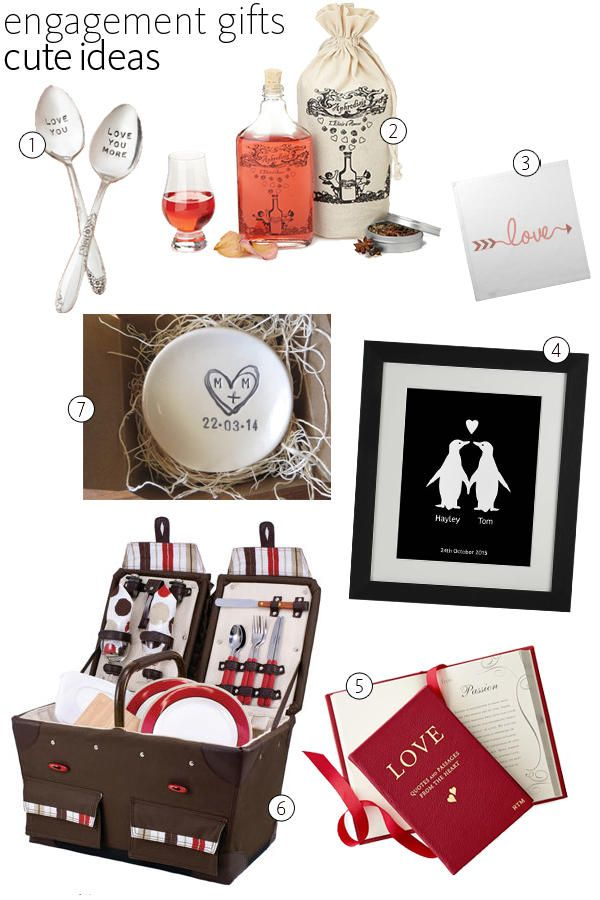 54 Great Engagement Gifts For The Happy Couple Engagement Party Gifts Engagement Gifts Unique Engagement Gifts