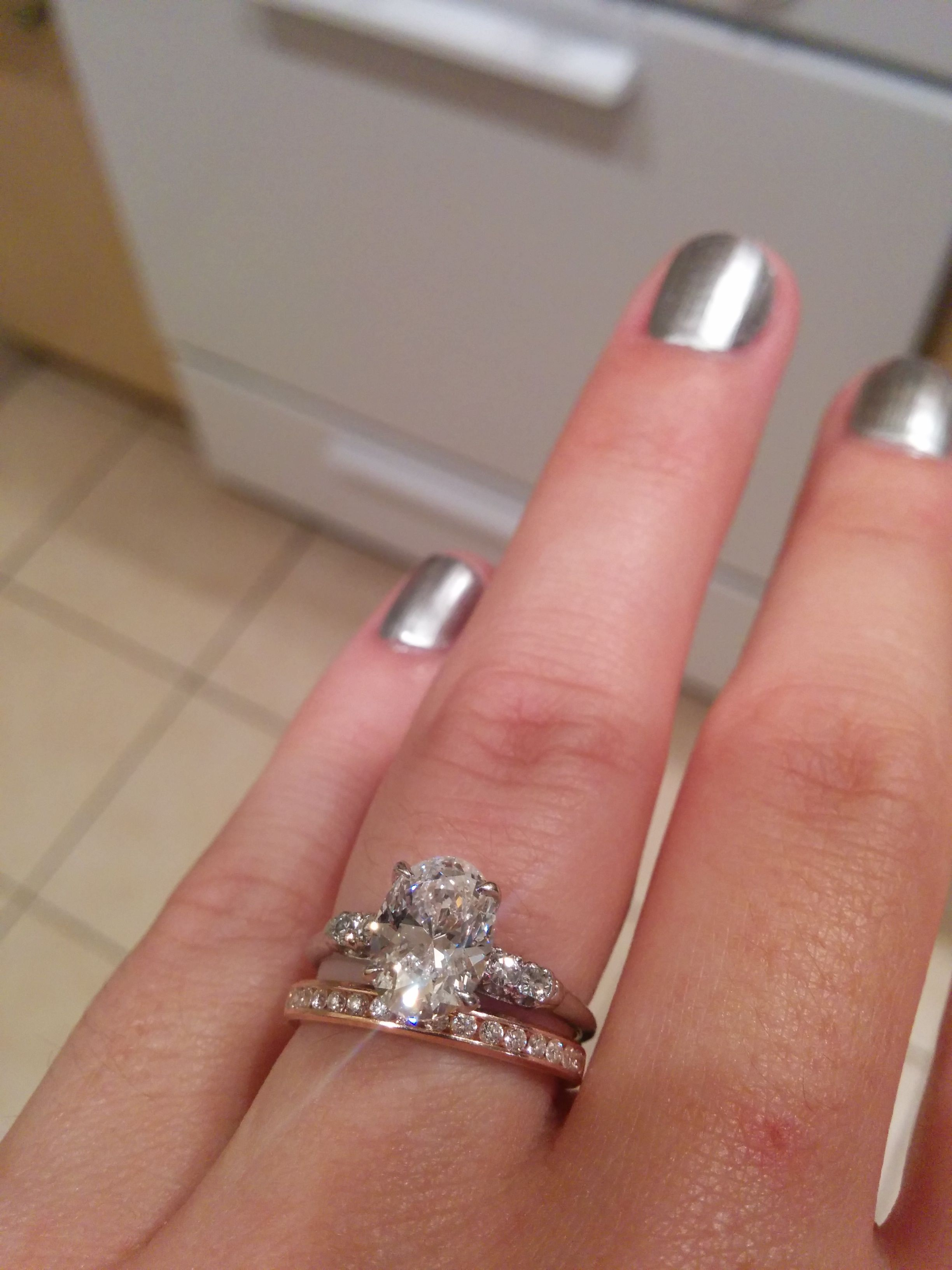 Post Your Oval Rings! - Weddingbee | Page 8 | Ring | Pinterest ...