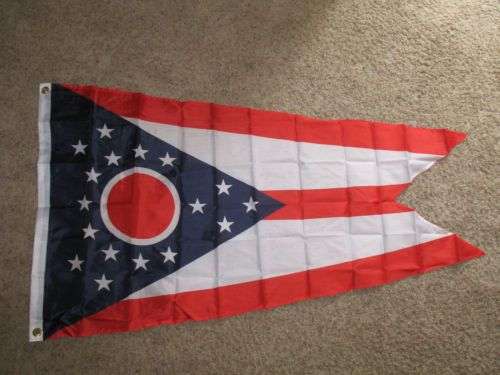 3x5 State of Ohio Flag 3/'x5/' House Banner 100D Polyester Grommets Fade Resistant