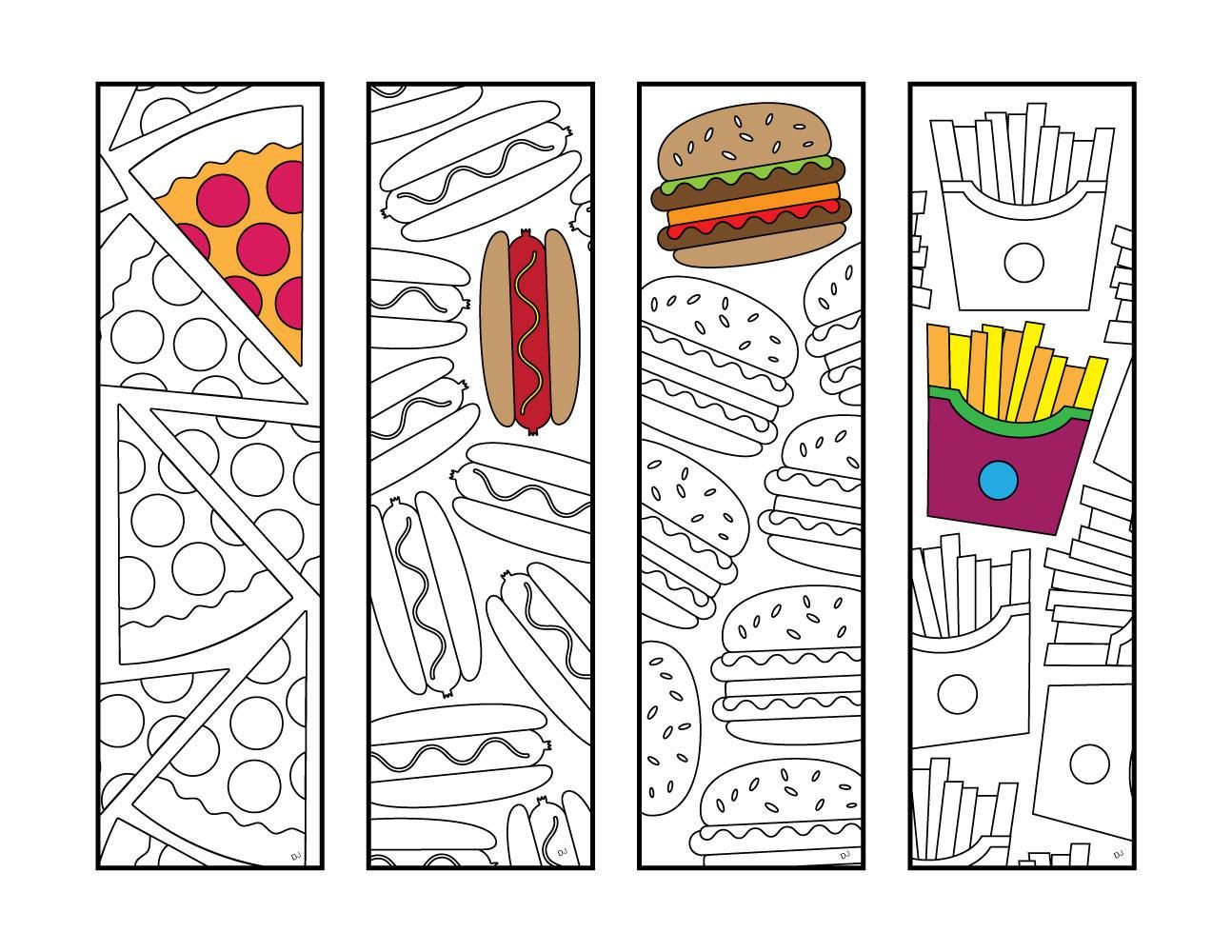 Fast Food Bookmarks
