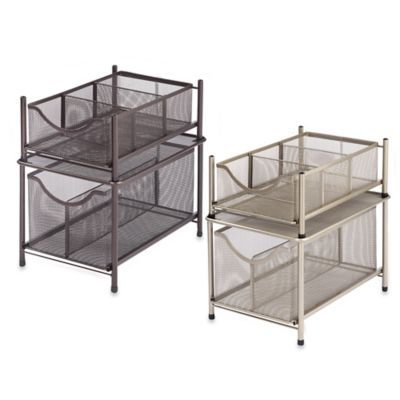Org Under The Sink Mesh Slide Out Storage Drawer