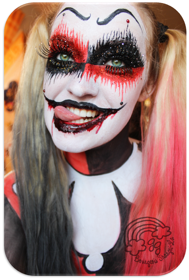 harley quinn makeup google search this is halloween in. Black Bedroom Furniture Sets. Home Design Ideas