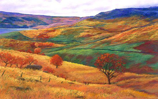 Autumn Colours Dovestones Nature Paintings Painting Landscape Paintings