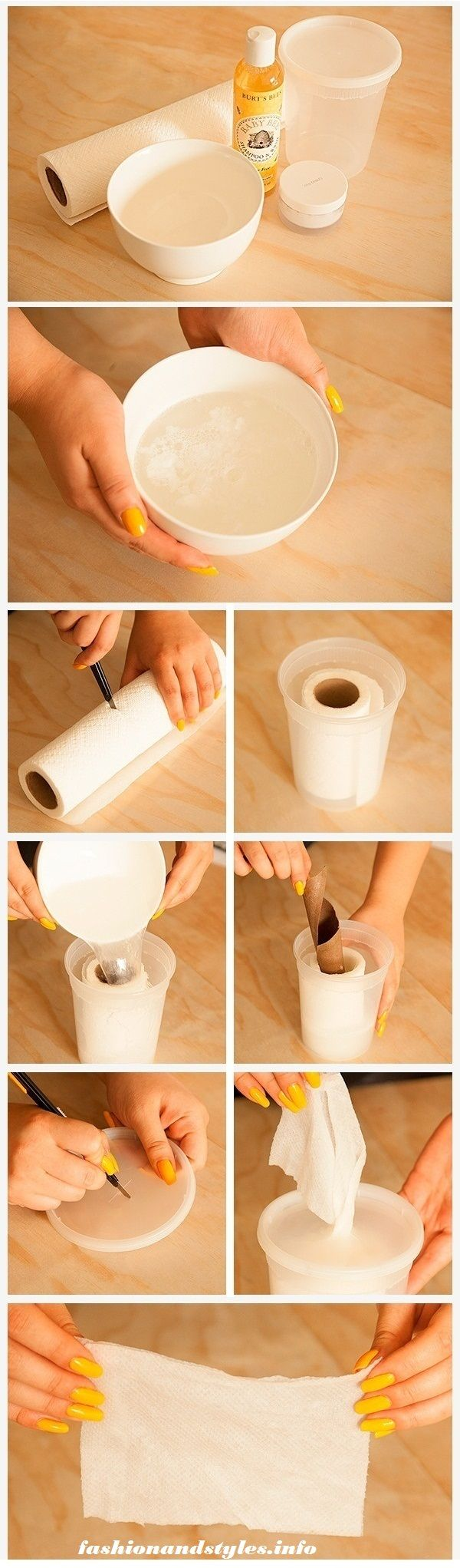 Make your own makeup remover or baby wipes! I am going to