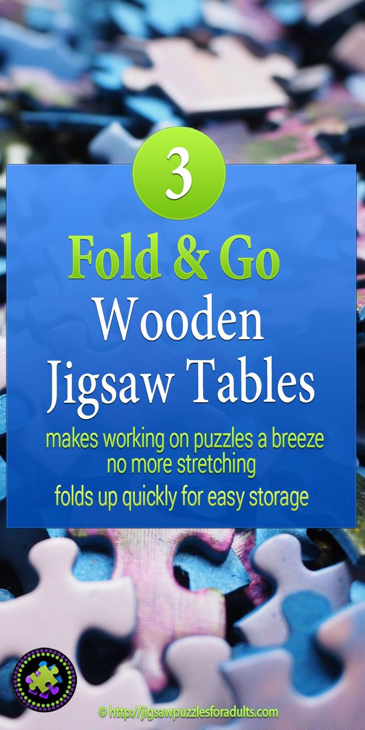 Fold Go Wooden Jigsaw Table Puzzles Jigsaw Puzzles Puzzle