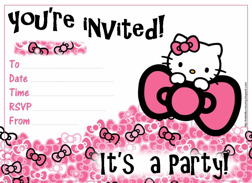 Pretty Practical Mom Free Printable Hello Kitty Invitations