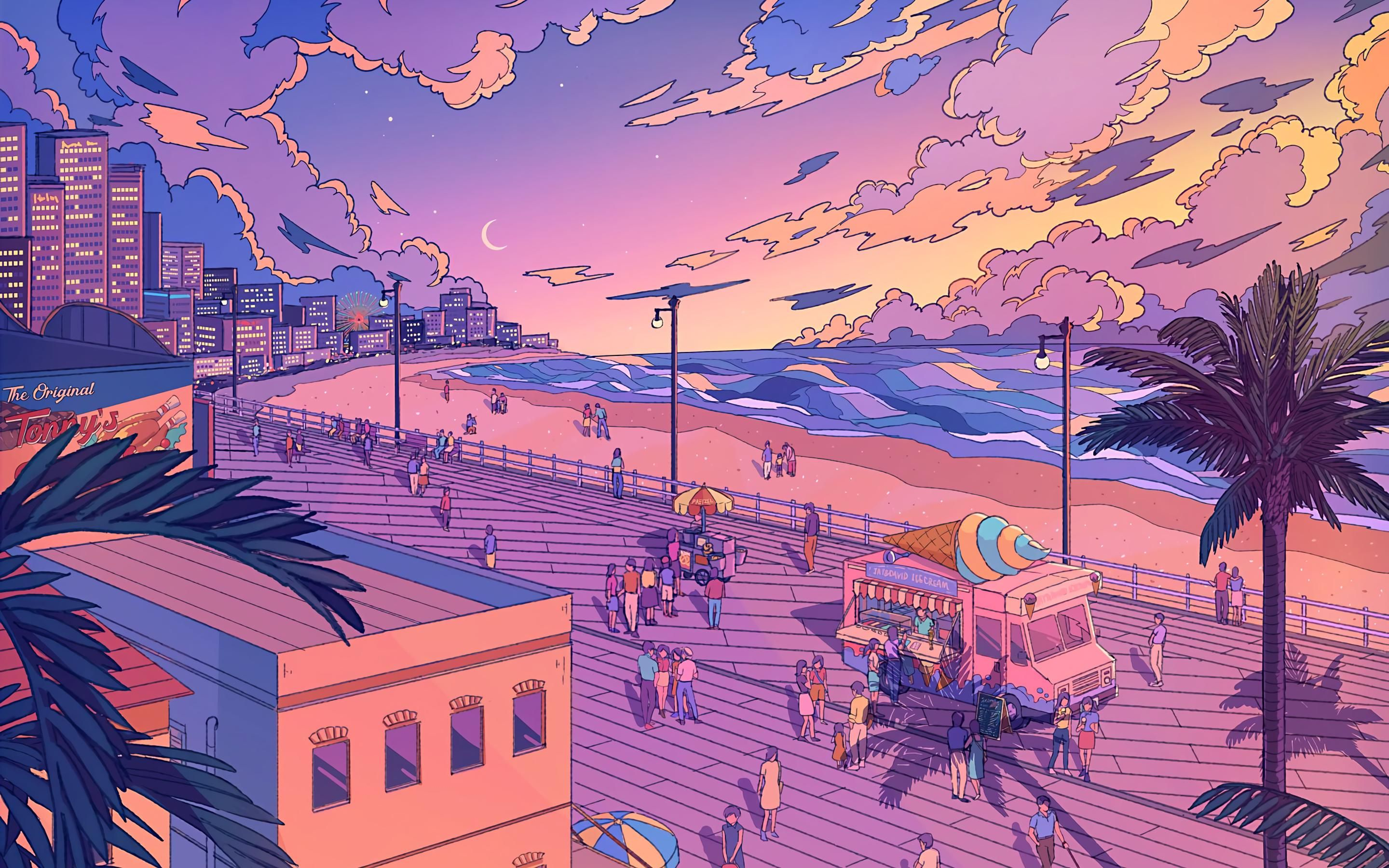 Aesthetic Beach By Midwinterdawn 2880x1800 Beach Aesthetic Aesthetic Wallpapers Calming Pictures Aesthetic anime mac wallpaper