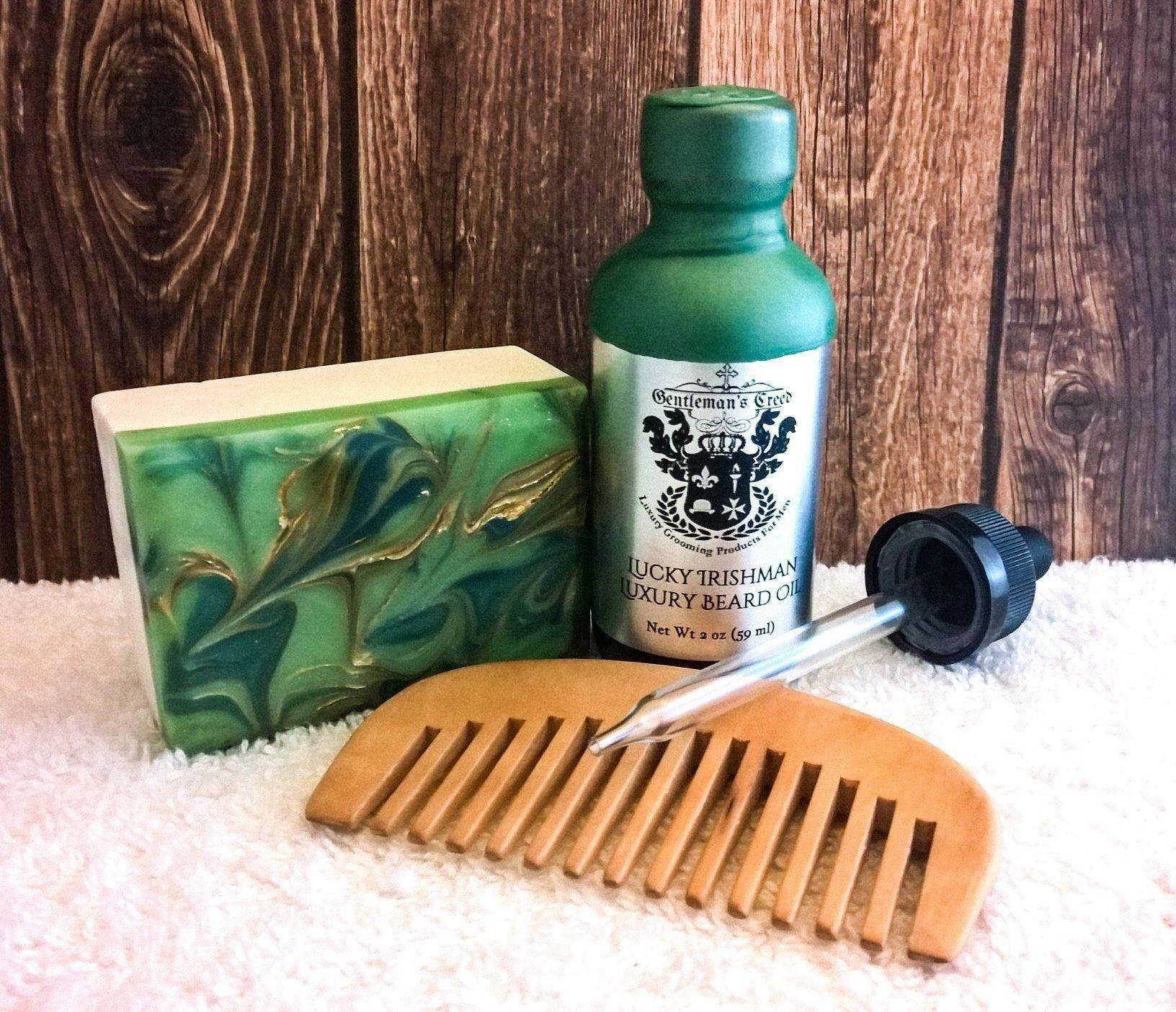 Free Shipping Beard Care Oil / Vegan Soap Set Lucky