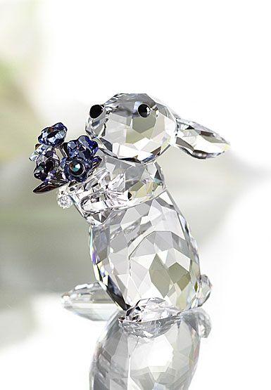 Swarovski Rabbit with Forget-Me-Not
