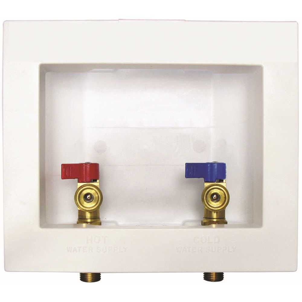 Washer Outlet Box With Valves Washer Washing Machine Lowes Home