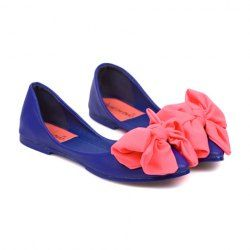 $12.84 Casual Color Matching and Sweet Bow Design Women's Flat Shoes