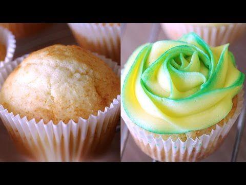 Lemon Cupcake Recipe 레몬 컵케잌 만들기 - 한글자막 - YouTube
