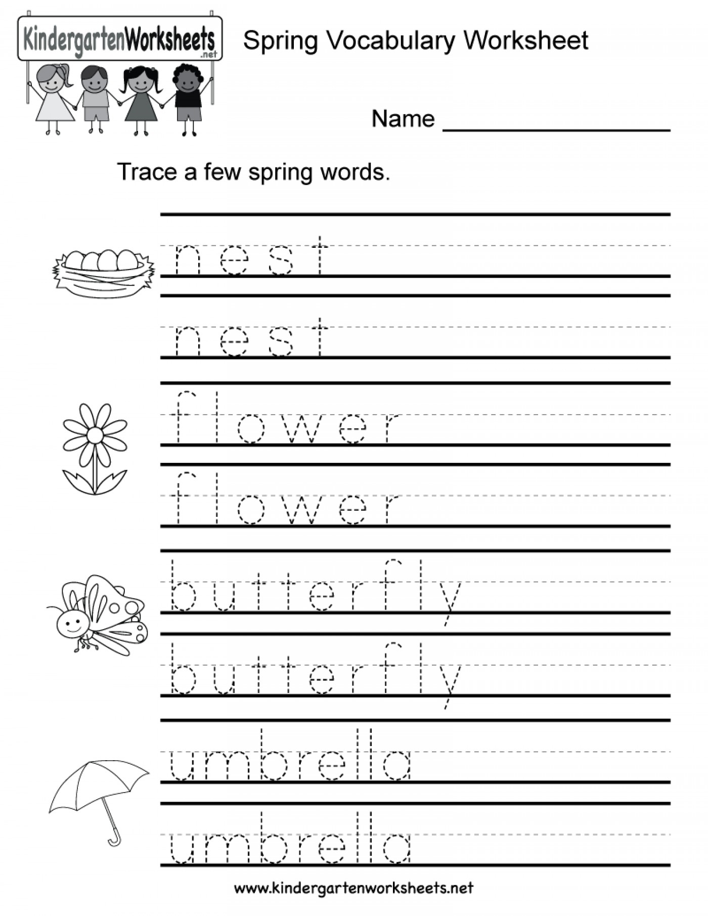 Name Tracing Worksheets Educationlevel Preschool