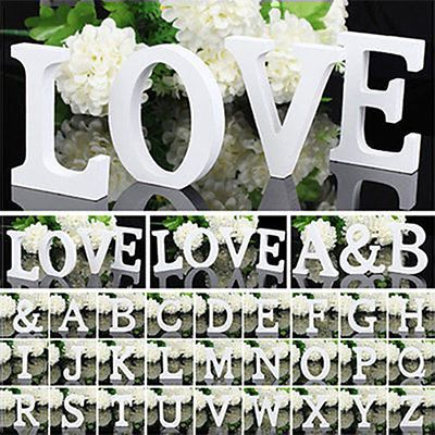[S$2.48]★BUY TWO GET ONE FREE★ 2015 Fashion English Letters And Numbers Decoration Personalized Wooden Name Plaques Word Letters 3D DIY Wedding Decor