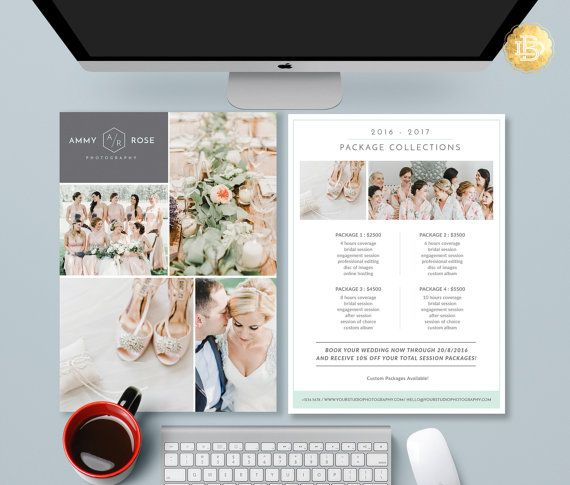 Pricing Guide Photoshop Template Design, Photography Price Sheet - price list template
