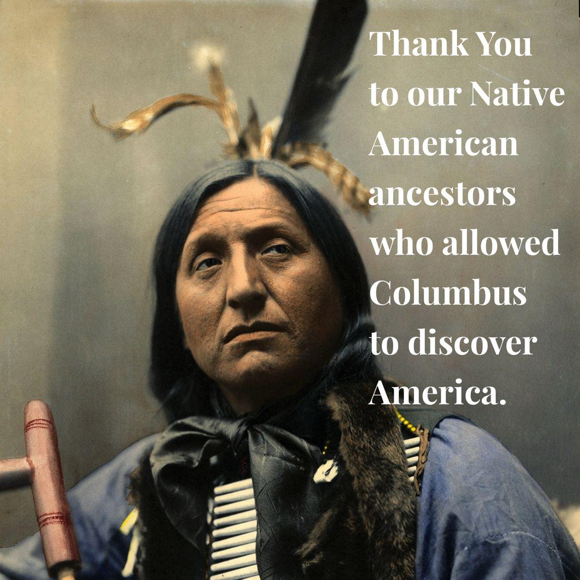 Columbus Day Salute | Native american memes, American ...