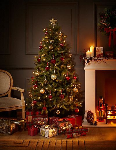 6ft Country Spruce Christmas Tree M S Pre Lit Christmas Tree Green Christmas Tree Luxury Christmas Tree