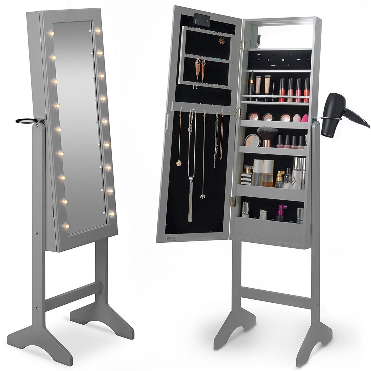 25 Beautiful Standing Mirror Jewelry Armoires Zen Merchandiser Mirror Jewelry Armoire Mirror Cabinets Stylish Flooring