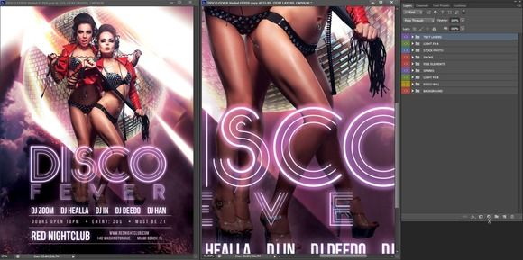 Disco Fever Vertical Flyer  Discos And Flyer Template