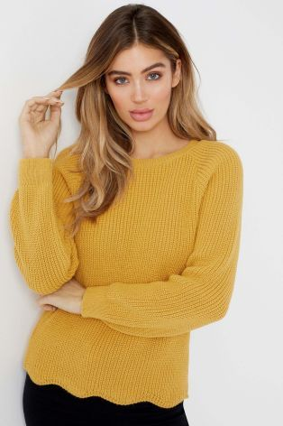 26640c74f47967 Buy Lipsy Zip Detail Scallop Jumper from the Next UK online shop ...