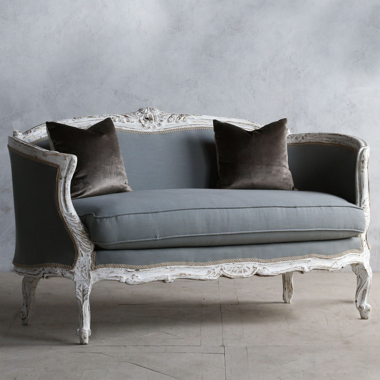 Antique Sofa Loveseat: Eloquence One Of A Kind Vintage Settee Louis XV Antique