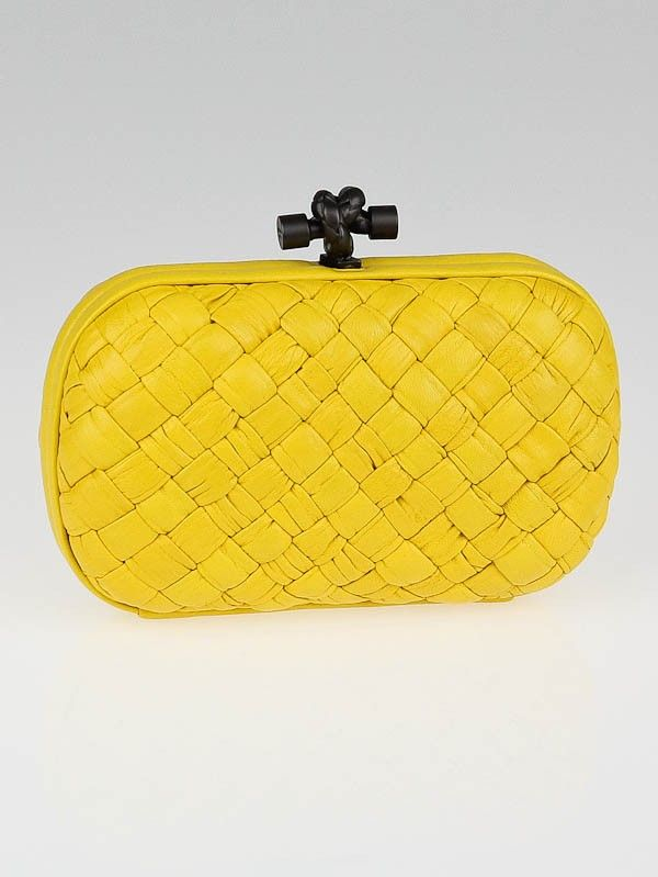 Knot Intrecciato-woven leather clutch Bottega Veneta 2Iztns5