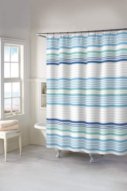 Chf Industries Aqua Beacon Stripe Shower Curtain Striped