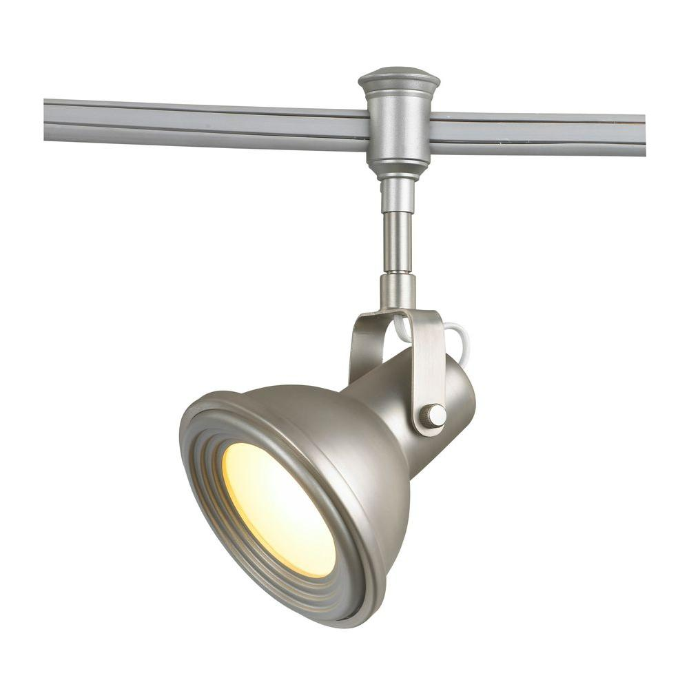 Commercial Electric Led Brushed Nickel Restoration Style Flexible Track Lighting Head Products Flexible Track Lighting Commercial Electric Track Lighting