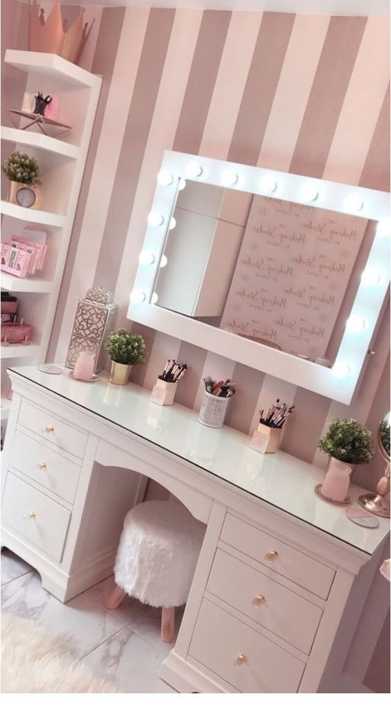 Glam makeup table images