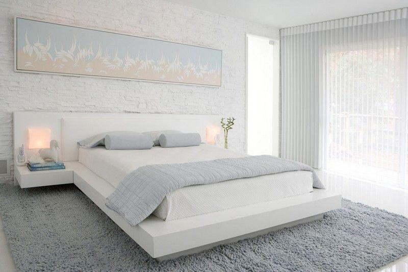 Schlafzimmer Ideen in Weiß - 75 moderne Einrichtungsbeispiele   bett ...
