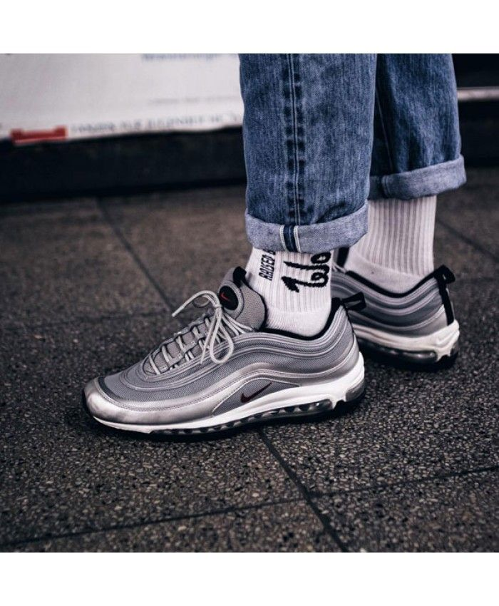 brand new b26fd 10ad1 Nike Air Max 97 Silver Bullet Black Mens Shoes Sale