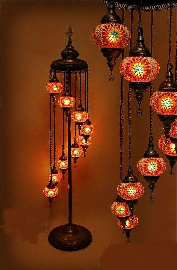 Handmade Turkish Moroccan Hanging Mosaic Lamp Direct Sales From