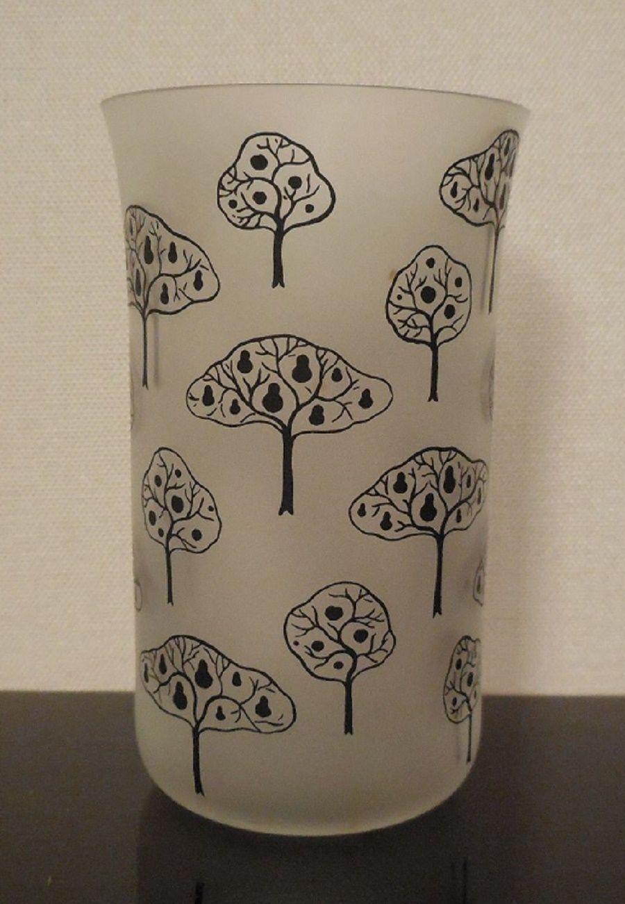 Beautiful Lobmeyr Matte Glassware Designed by Josef Hoffmann Tree Design | eBay