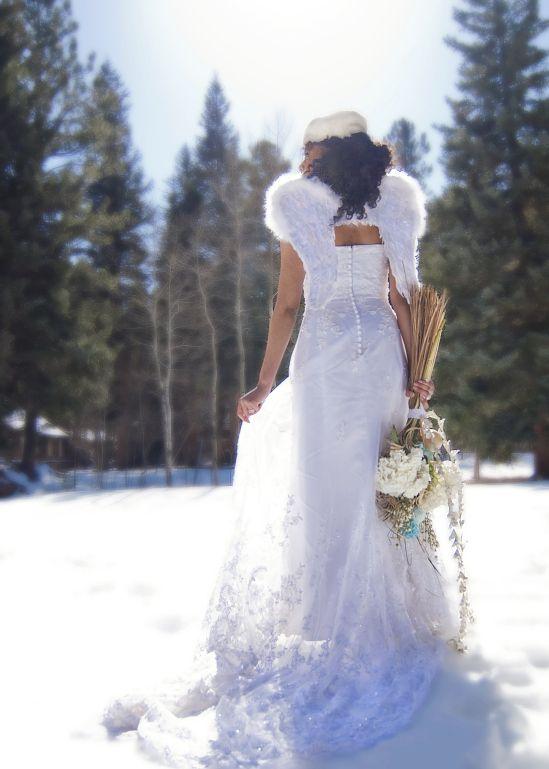 Kellie Mendelow Photography Snow Wedding Themes Wedding Angels Snow Wedding